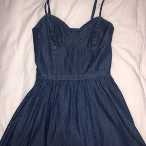 25e380d5957 Macy s retro denim spaghetti strap dress